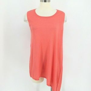❤️ DG2 Diane Gilman Top Women S Coral Pink Cotton